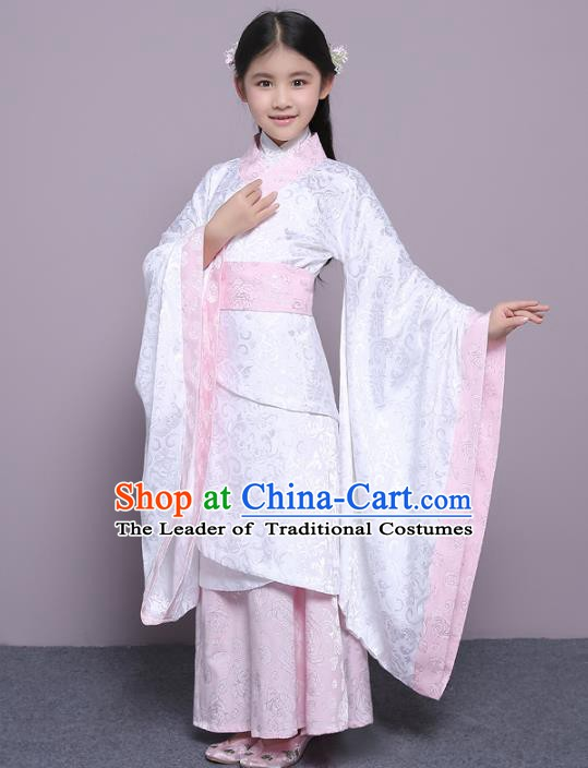 Traditional China Han Dynasty Princess Costume, Chinese Ancient Palace Lady Hanfu Clothing for Kids