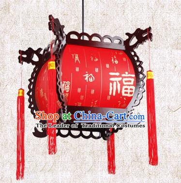 Traditional Chinese Painted Palace Lanterns Red Hanging Lantern Ancient Ceiling Lamp