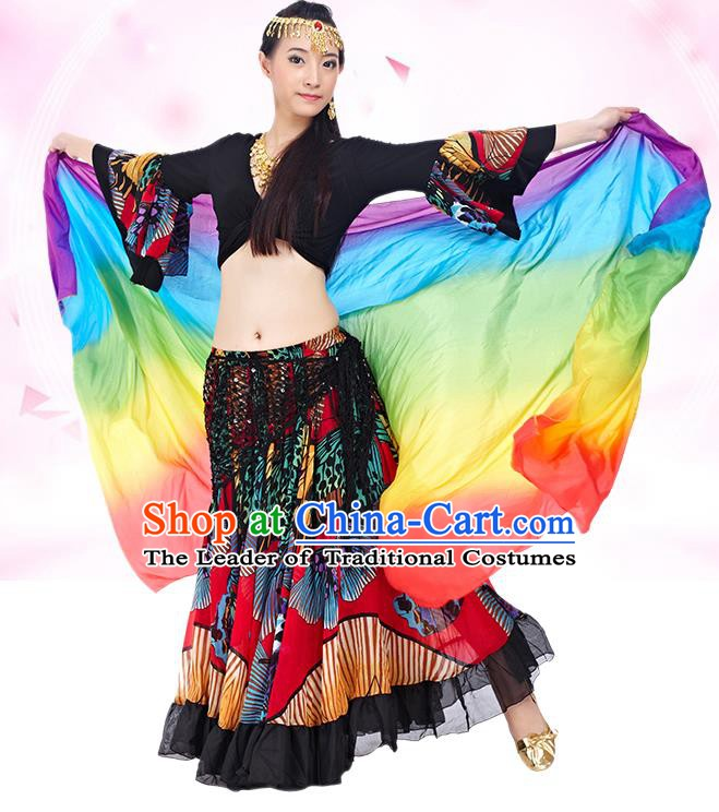 Indian National Belly Dance Black Dress India Bollywood Oriental Dance Costume for Women