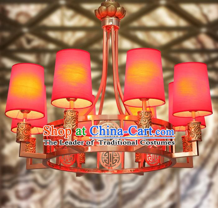 Traditional Chinese Wedding Ceiling Palace Lanterns Handmade Eight-Lights Lantern Ancient Lamp