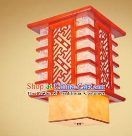 Traditional Chinese Handmade Palace Lantern New Year Wood Hanging Lanterns Ancient Lamp