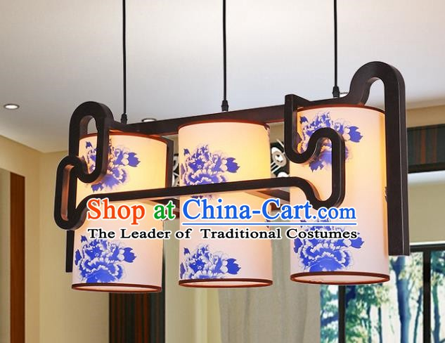 Top Grade Handmade Painting Peony Palace Lanterns Traditional Chinese Lantern Ancient Ceiling Lanterns