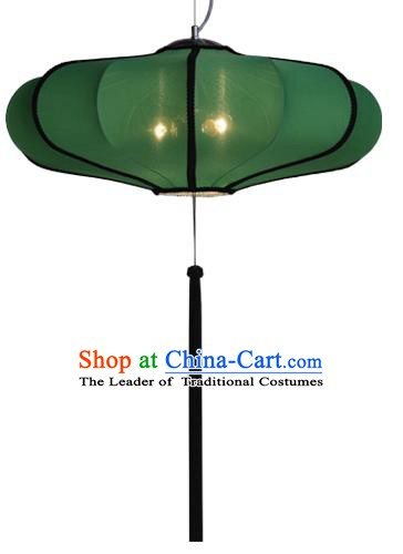 Top Grade Handmade Green Lanterns Traditional Chinese Palace Lantern Ancient Ceiling Lanterns