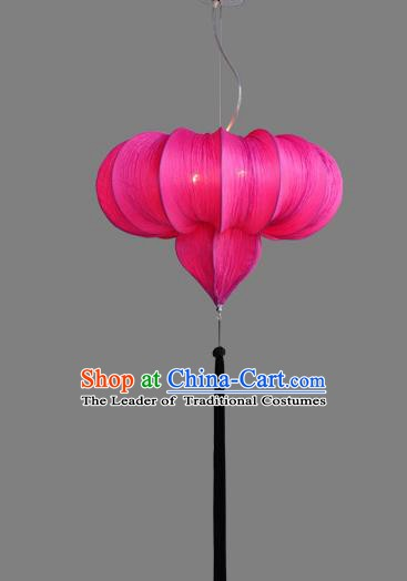Top Grade Handmade Rosy Hanging Lanterns Traditional Chinese Ceiling Palace Lantern Ancient Lanterns