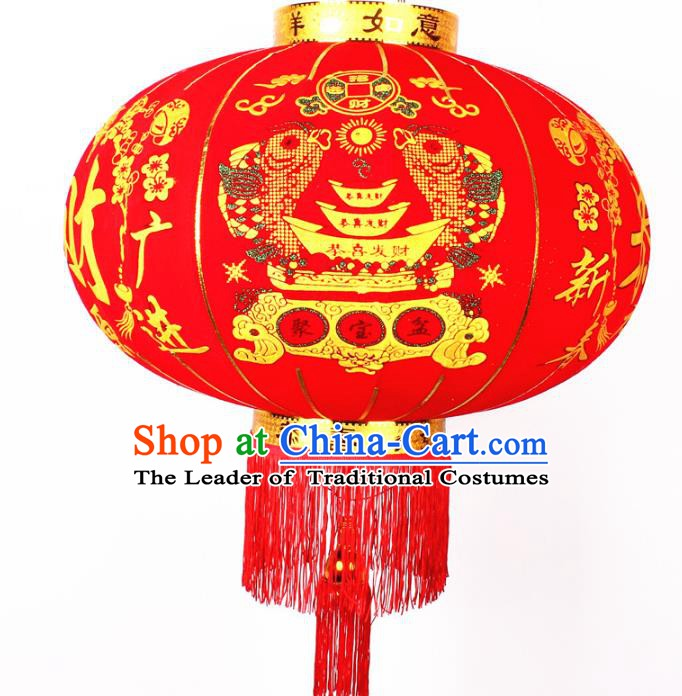 China Handmade New Year Rich Lanterns Traditional Chinese Red Palace Lantern Ancient Lanterns