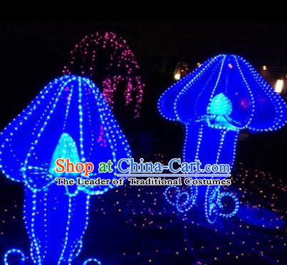 Traditional Christmas Mushroom Light Show Decorations Lamps Stage Display Lamplight LED Lanterns