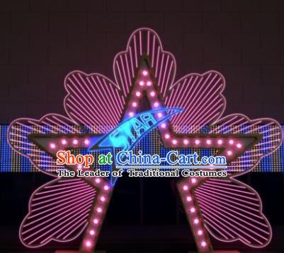 Traditional Star Light Show Decorations Lamps Stage Display Lamplight LED Lanterns