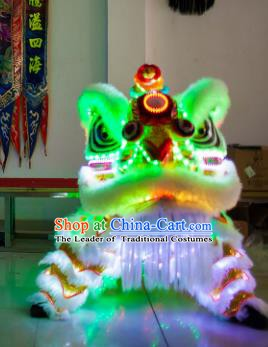 Chinese Traditional Parade LED Lights Lion Head Professional Celebration Lion Dance Costumes Complete Set