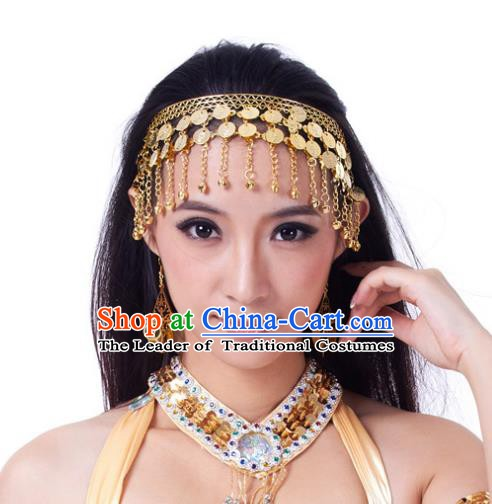 Indian Bollywood Belly Dance Hair Accessories Golden Hair Clasp for Women