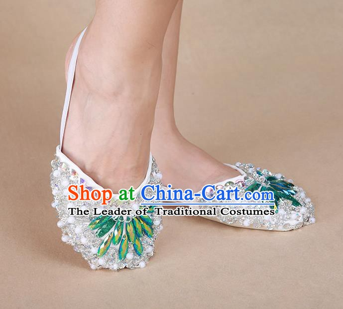 Indian Traditional Belly Dance Accessories Half Shoes for Women