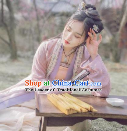 Traditional Chinese Ancient Hanfu Song Dynasty Young Lady Costume for Women