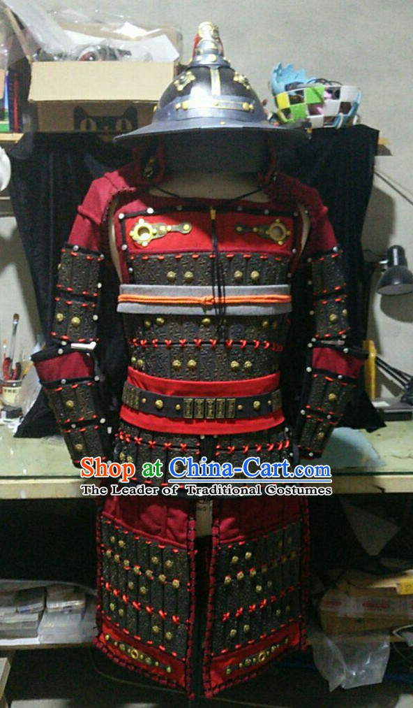Asian Warrior Chinese General Superhero Costume Complete Set