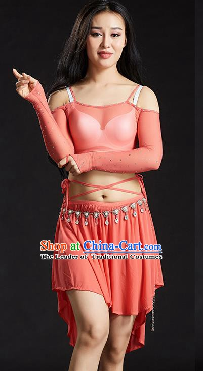 Indian Belly Dance Watermelon Red Dress Classical Traditional Oriental Dance Performance Costume for Women