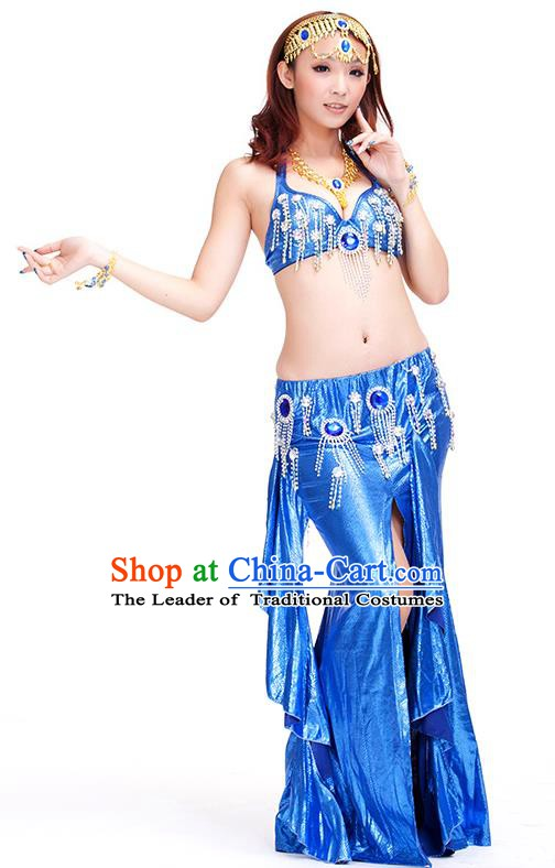 Top Indian Belly Dance Royalblue Dress India Traditional Raks Sharki Oriental Dance Performance Costume for Women