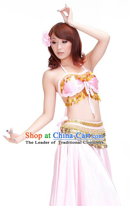 Indian Belly Dance Pink Dress Classical Traditional Oriental Dance Performance Costume for Women