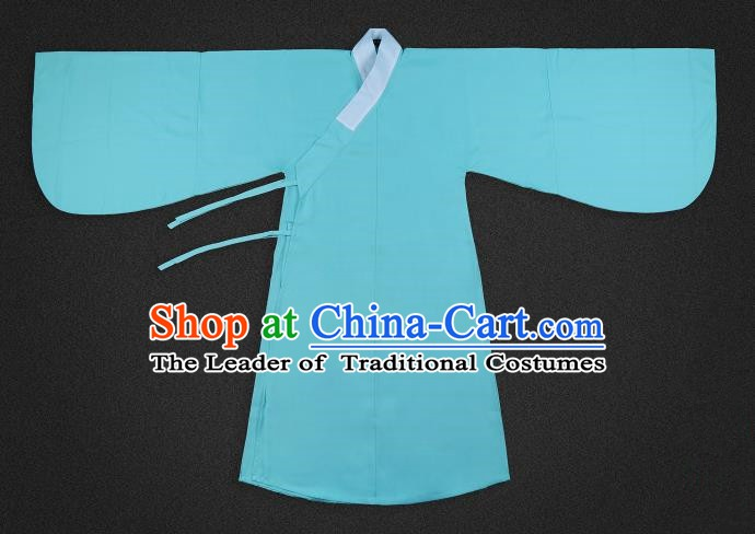 Chinese Ancient Scholar Green Robe Ming Dynasty Swordsman Costumes for Men