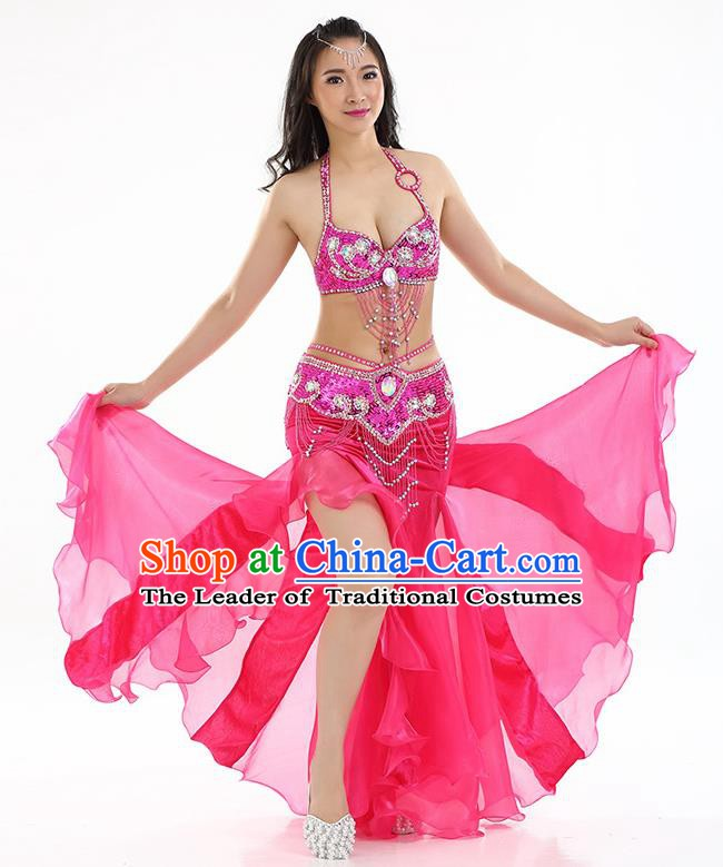 Top Indian Belly Dance India Traditional Raks Sharki Rosy Dress Oriental Dance Costume for Women