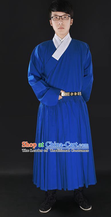 Chinese Ancient Ming Dynasty Knight Costume Swordsman Hanfu Clothing for Men