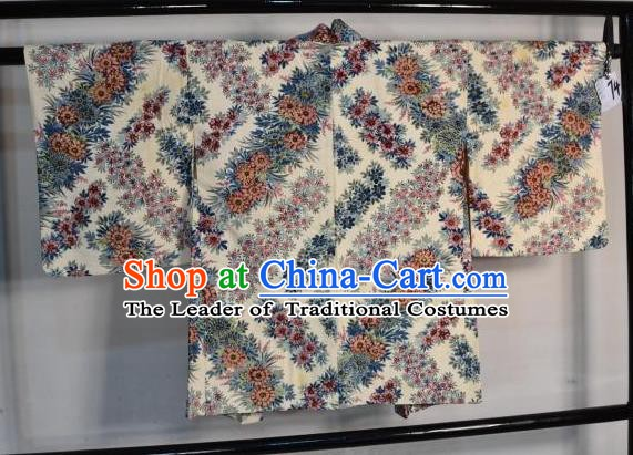 Japanese Traditional Yukata Printing Shirts Japan Samurai Haori Kimonos Clothing for Men