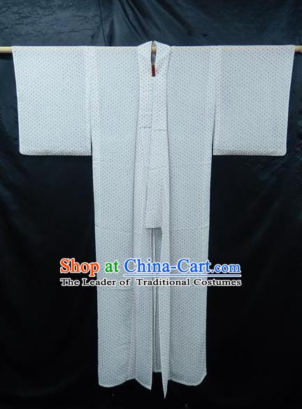 Japanese Traditional White Yukata Robe Japan Samurai Haori Apparel Kimono Clothing for Men
