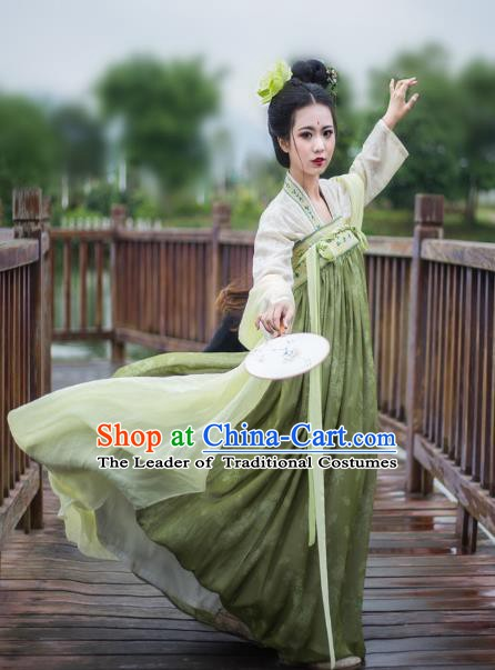 China Ancient Dress Costume Tang Dynasty Palace Princess Embroidered Slip Skirts for Women