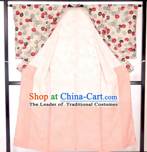 Japan Traditional Formal Costume Painted Furisode Kimono Yukata Dress for Women