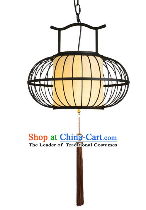 Traditional Chinese Ancient Palace Lantern Ceiling Lamp Iron Art Lanern