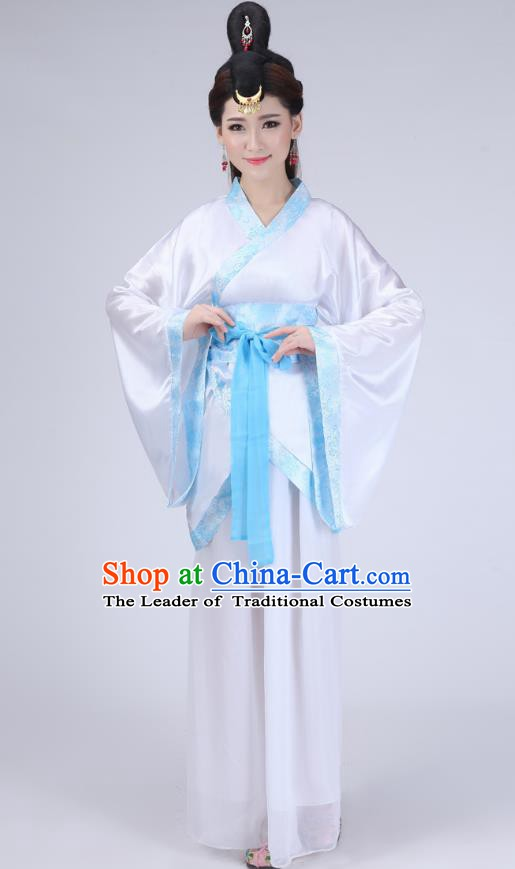 Chinese Ancient Princess Historical Costume Han Dynasty Embroidered Hanfu Dress for Women