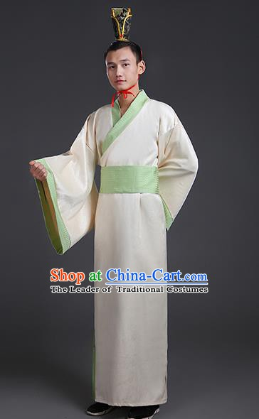 Chinese Ancient Han Dynasty Swordsman Costume Theatre Performances Hanfu Clothing for Men