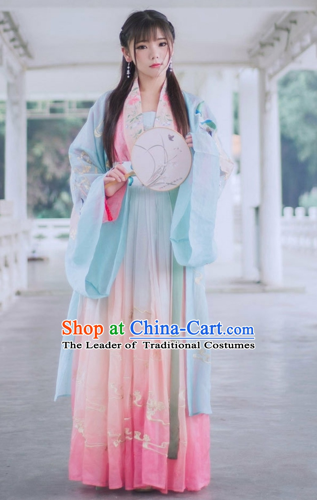 Chinese Traditional Hanfu Clothing Garment Complete Set for Women