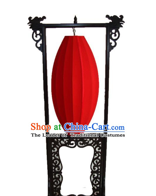 Asian China Handmade Red Floor Lanterns Traditional Ancient Wood Palace Lantern