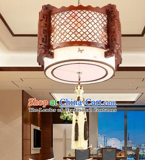 Chinese Handmade Hanging Lantern Traditional Palace Wood Ceiling Lamp Ancient Lanterns