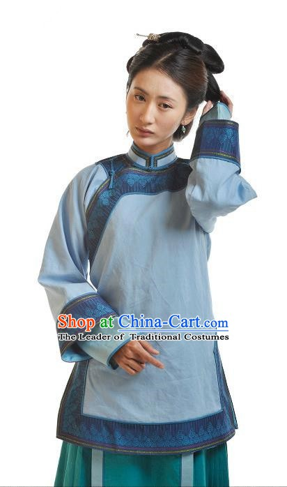 Chinese Qing Dynasty Manchu Lady Historical Costume Ancient Nobility Clothing for Women