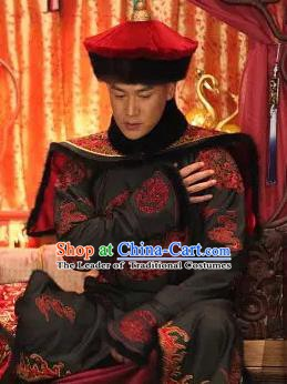Chinese Qing Dynasty Historical Costume China Ancient Manchu Prince Robe Clothing