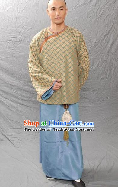 Chinese Qing Dynasty Author Li Yu Historical Costume Ancient Fictionist Clothing for Men
