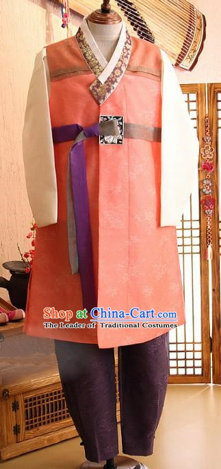 Asian Korean Traditional Palace Male Hanbok Clothing Ancient Bridegroom Korean Costume for Men