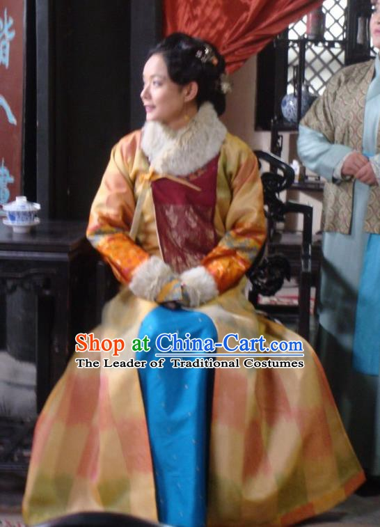 Chinese Ancient Manchu Dress Qing Dynasty Courtesan Chen Yuanyuan Costume for Women