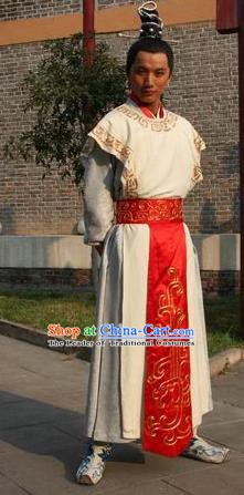 Chinese Ancient Novel Journey to the West White Dragon Horse Costume for Men