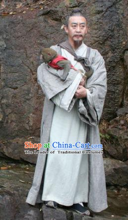 Chinese Ancient Novel Monkey King Author Cheng-En Wu Costume for Men