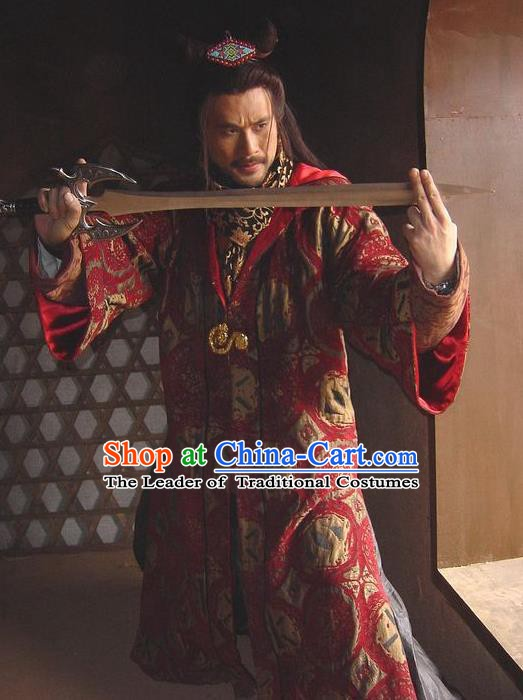 Traditional Chinese Ancient Ming Dynasty Swordsman Embroidered Replica Costume for Men