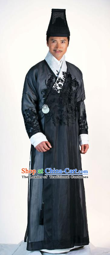 Traditional Chinese Ancient Ming Dynasty Milord Businessman Replica Costume for Men