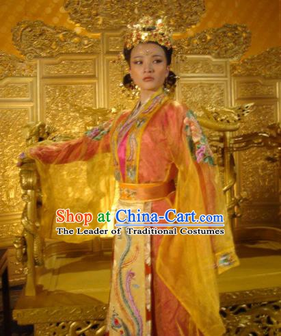 Ancient Chinese Ming Dynasty Queen Historical Costume Palace Lady Embroidered Dress Replica Costume for Women