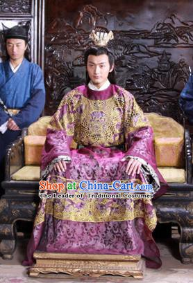 Traditional Chinese Ancient Ming Dynasty Emperor Xi Zhu Youxiao Embroidered Replica Costume for Men