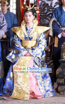 Ancient Chinese Ming Dynasty Queen Embroidered Historical Costume Empress Replica Costume for Women