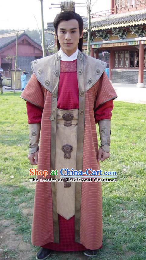 Traditional Chinese Ancient Ming Dynasty Prince Robe Replica Costume for Men