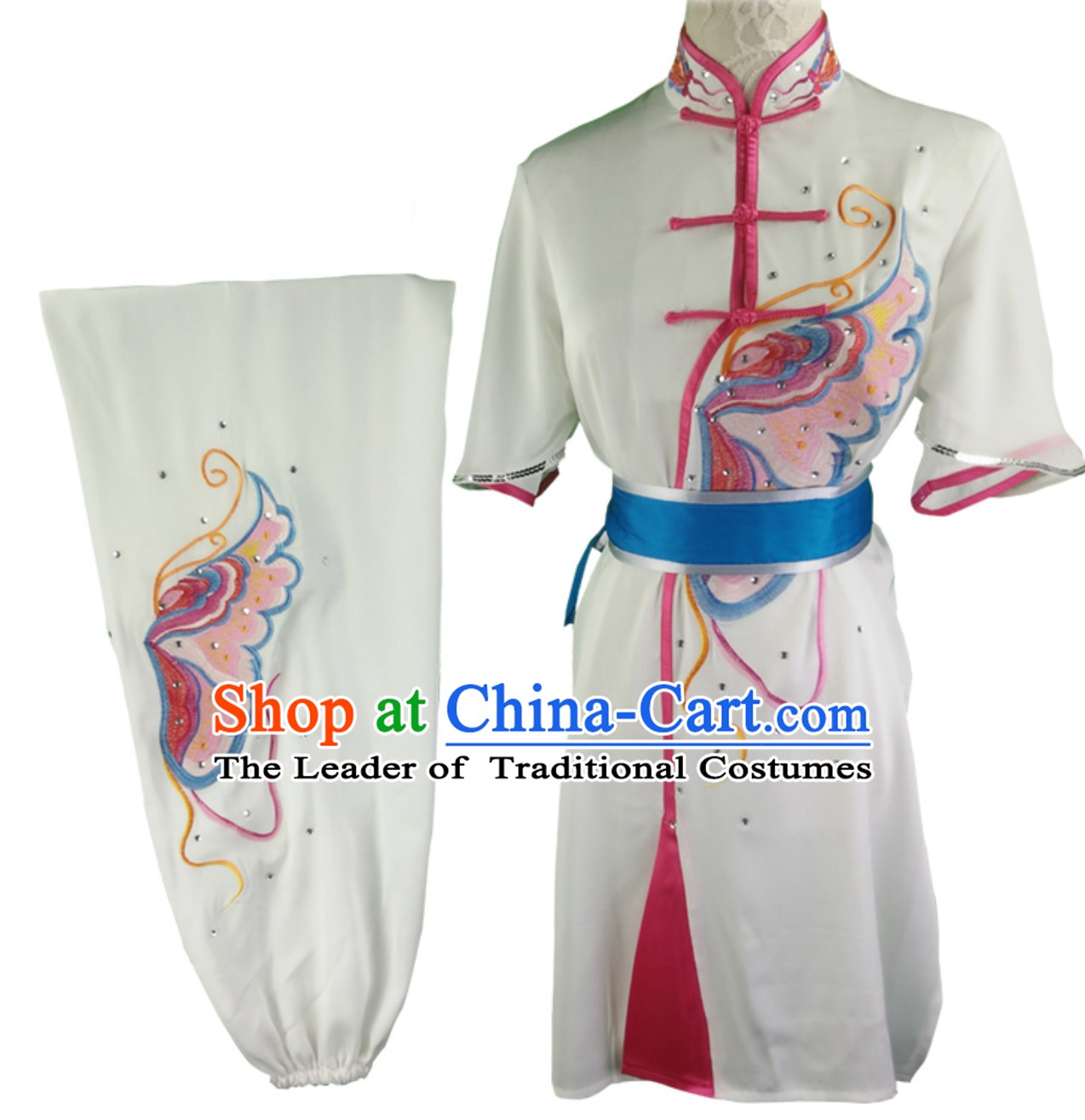 Custom Made Top Mulan Kung Fu Jacket Kung Fu Shirt Kung Fu Suits and Uniforms Chinese Jacket Martial Arts Suits Competition Clothing for Women
