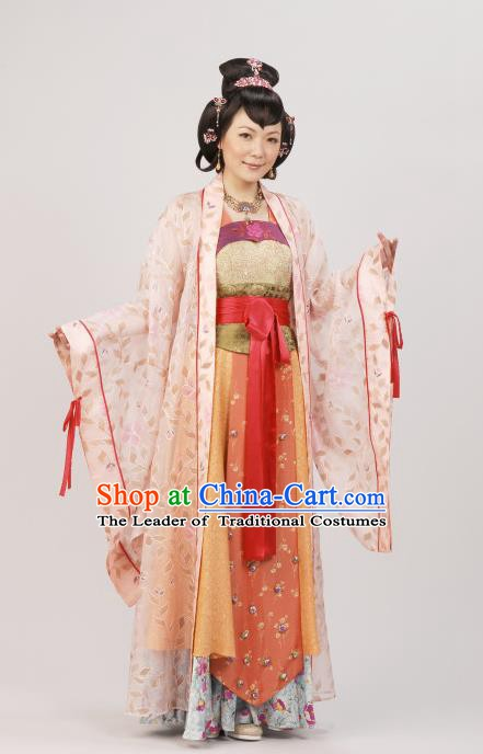Chinese Ancient Ming Dynasty Princess Consort Qi Embroidered Costume for Women