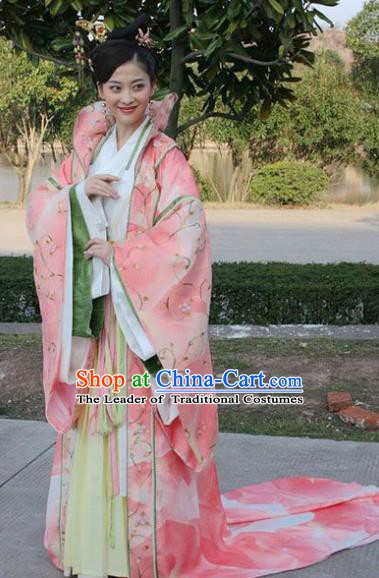 Chinese Ancient Ming Dynasty Empress Dowager Li Embroidered Dress Costume for Women