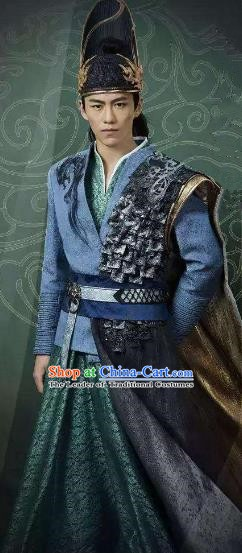 Traditional Chinese Ancient Ming Dynasty Zhengtong Emperor Zhu Qizhen Costume for Men