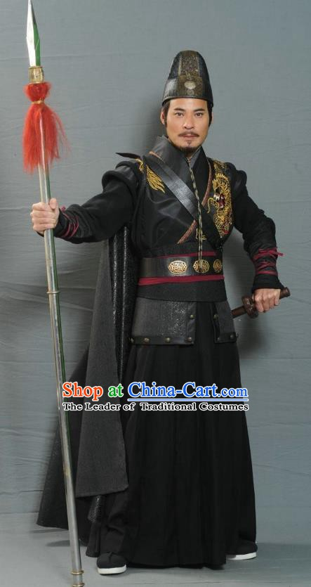 Ancient Chinese Ming Dynasty Swordsman Costume Knight Clothing for Men